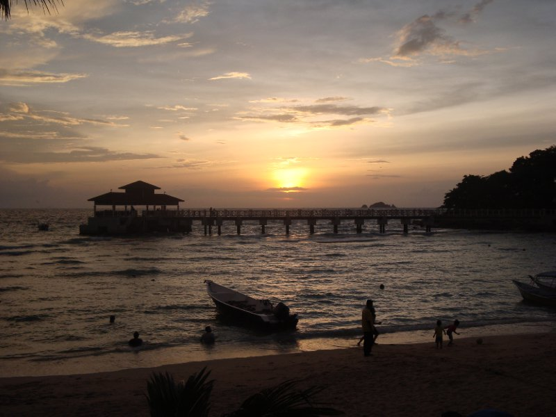 Sunset on Coral Beach, Puala Kecil, Perhentian Islands