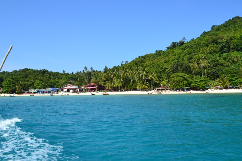 Coral Bay from the sea