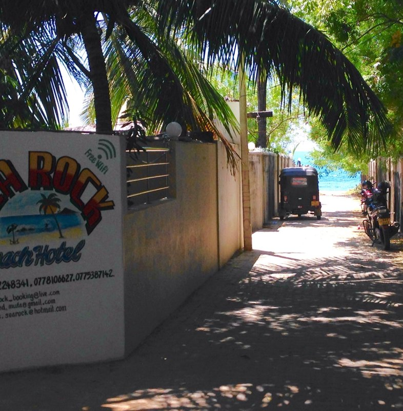Walk from Sea Rock Beach Hotel to the beach (circa 30 metres)