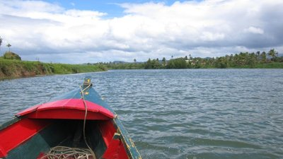 Boat in Navua River