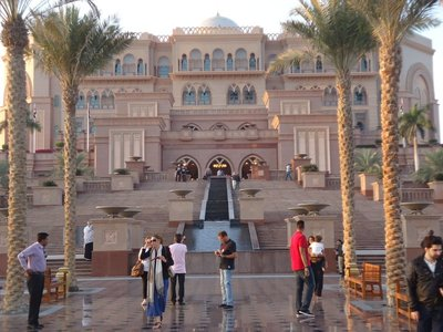 Emirates Palace Hotel - self proclaimed 6 stars - after peeking inside, hard to argue