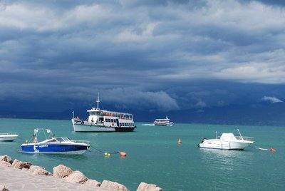 typical ferries, and unfortunately typical weather ...