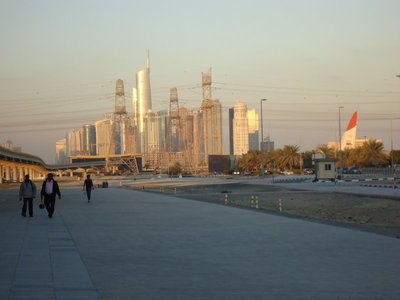 looking back to the city centre from what (I think) is the new suburb of Ibn Battuta