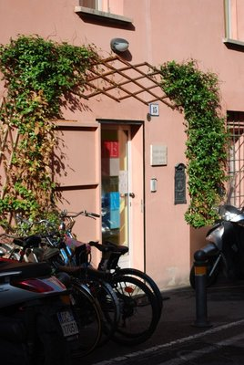Doorway to Heaven? ARCA is in a pretty side-street close to lovely Piazza Santo Stefano