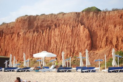 Vilamoura, Praia da Falesia, an example of the famous red cliffs