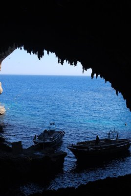 looking out from Grotta Zinzulusa