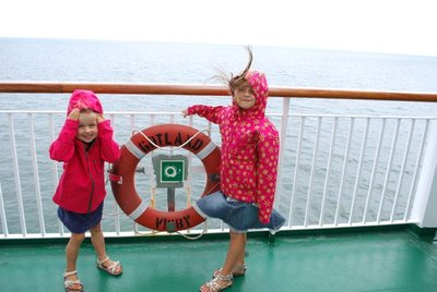 sailing the high seas ... and braver than their parents!