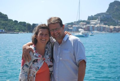 Mr and Mrs H after a beautiful seafood lunch at Porto Venere