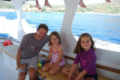 setting off on our very enjoyable trip to Salina and the other side of Lipari