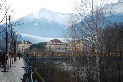Passer River looking back over Merano