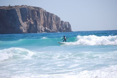 Sagres, Praia da Mareta, surf was definitely up on the day of our visit