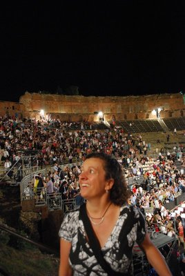 fuzzy first photo, but super experience seeing Rigoletto at the Teatro Greco