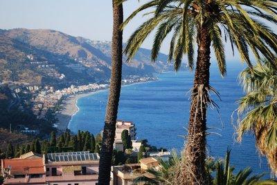 north from Taormina to Letojanni