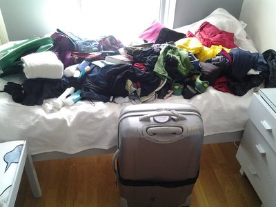 Big pile vs small suitcase