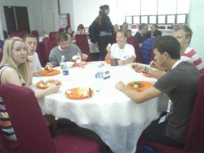 Breakfast eating people