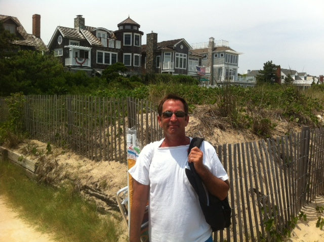 Some of the typical beach houses along Rehoboth Beach, Delaware