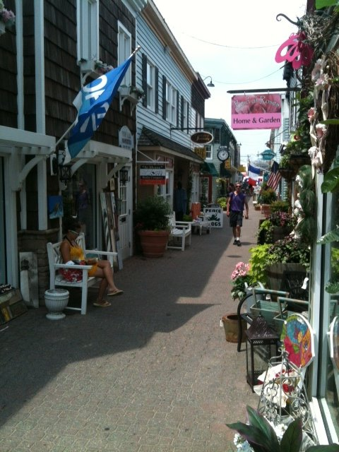 A quaint street in Rehoboth Beach