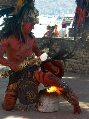 pecanto fire dancer, zihuatanejo