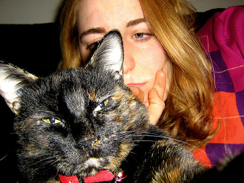 My cat and I at home base...2 weeks before leaving