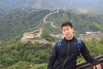 Wang at the Great Wall