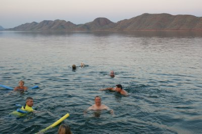 2012 Aug 29 Bob swimming in Lake Argyle