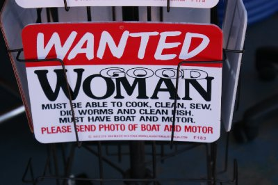 2012 Sep 11 Wanted - Good Woman sign