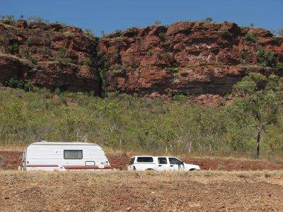Caravan on Victoria River scene