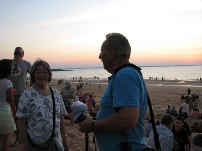 Hiroe and Bob at Mindil Beach