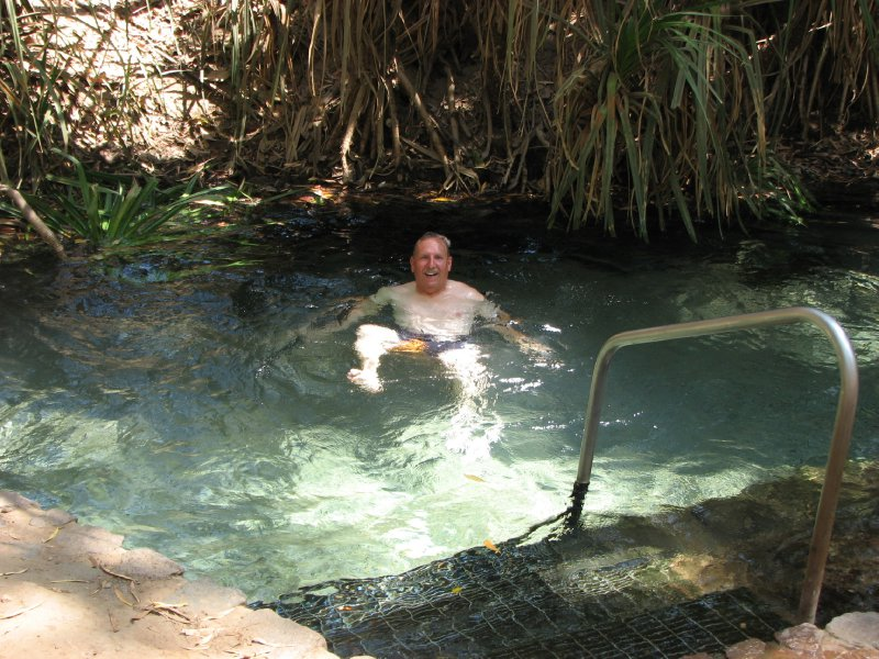 Bob in katherine Hot Springs