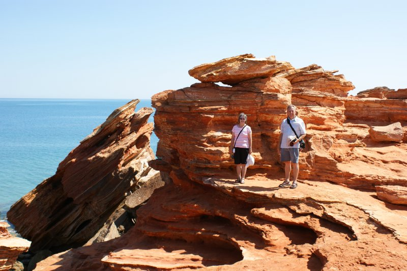 2012 Sep 11 Hiroe and Bob at Gantheaume Point Broome