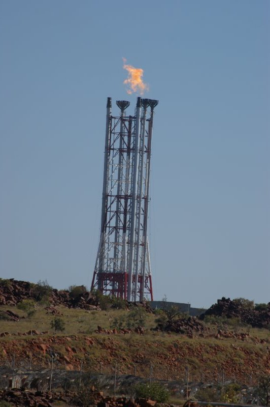 2012 Sep 15 Gas burning at Pluto Project Dampier