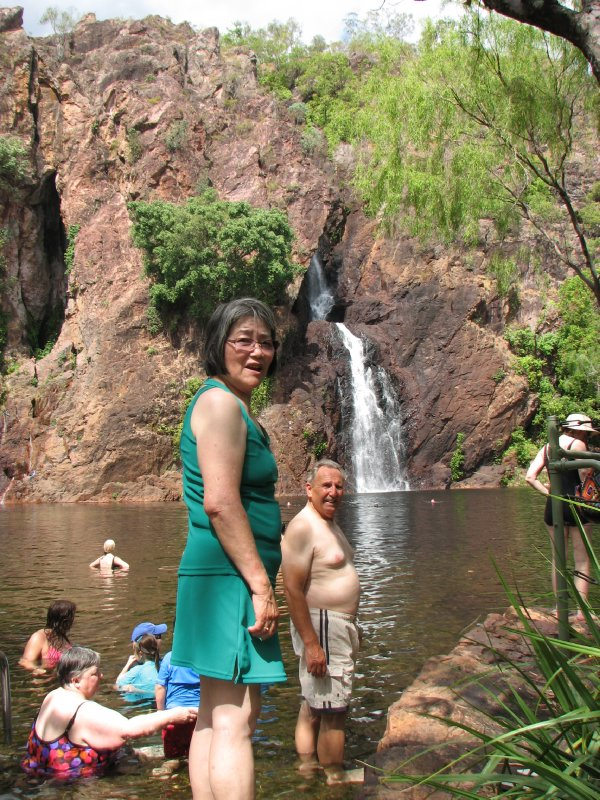 Bob and Hiroe at Wangi Falls