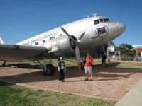 2012 July 27 Hiroe & Bob with DC3 at Longreach