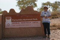 2012 Sep 4 Hiroe at Purnululu Entrance