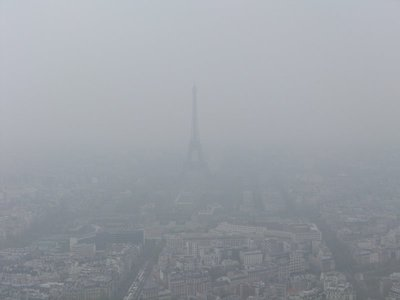 Eiffel Foggy Tower