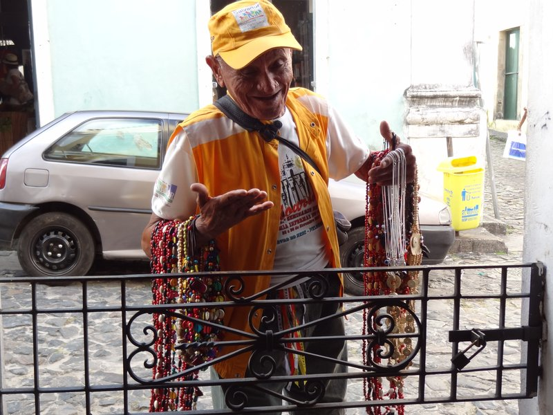 Salvador bead seller