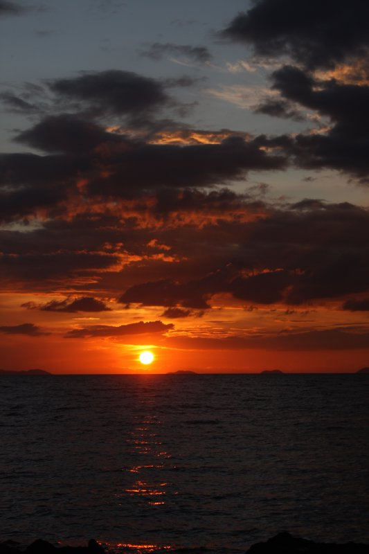 sunset in five island beach , koh samui