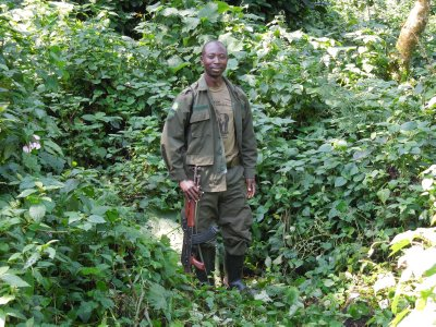 One of our gorilla guides