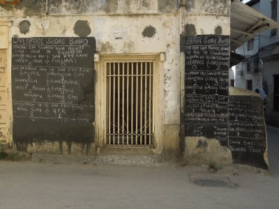 Soccer scores in Stone Town