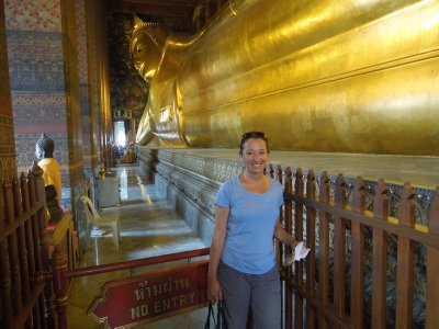 Me and the reclining Buddha