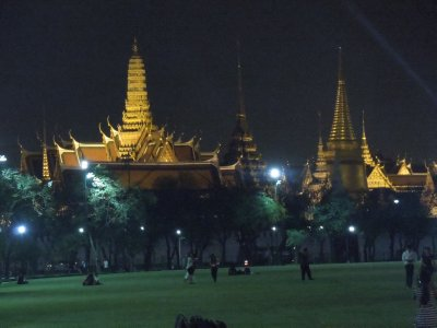 Evening view of the Grand Palace