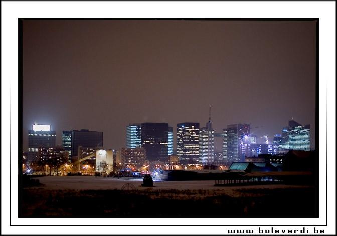 Skyline Brussels by night