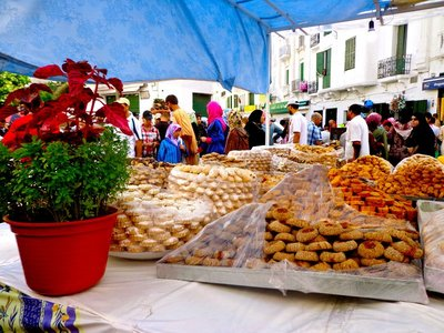 traditional treats for weddings, breaking fast, etc...During Ramadan there aren't a lot of options for eating in Tetouan so sometimes you have to be creative