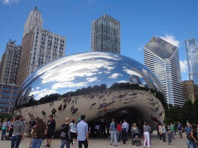 Visiting the famous cloud gate