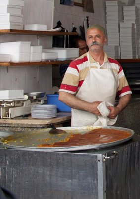 The knafeh maker: Knafeh is a famous Middle Eastern dessert