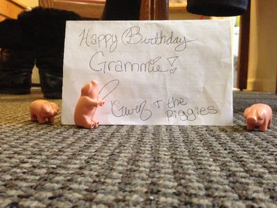 Happy 85th! Birthday Grammie. WIth Love from Chicago