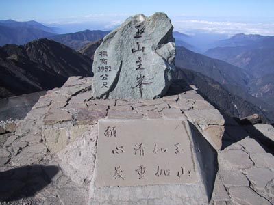 the top of Taiwan