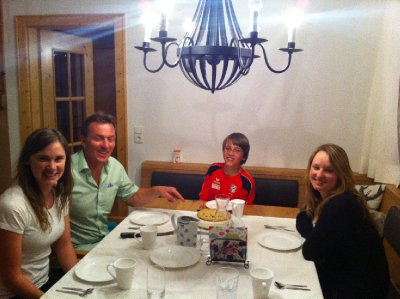 Our last dinner with Benny and Thomas (Karina was away but the boys did a great job of hosting us!)