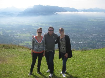 Beautiful view over Salzburg with Enrico and Prue