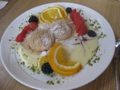 One of the many Austrian desserts Benny 'made us' sample in Fiss